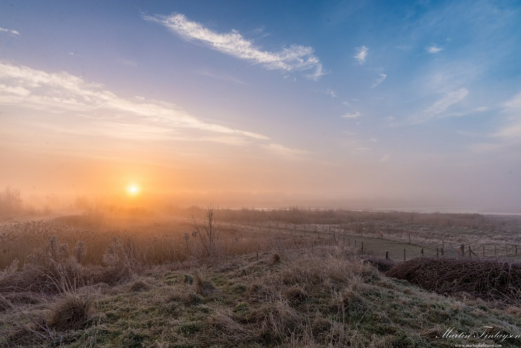 Misty Sunrise Over Tices Meadow